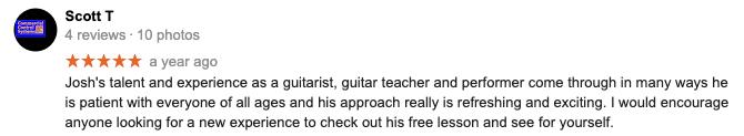 kids guitar lessons taunton ma