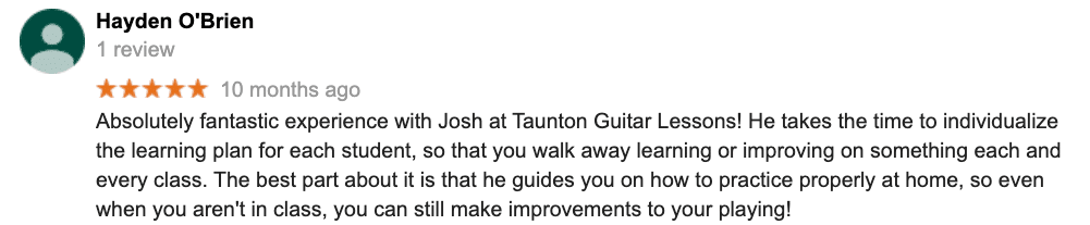 guitar lessons near me mansfield